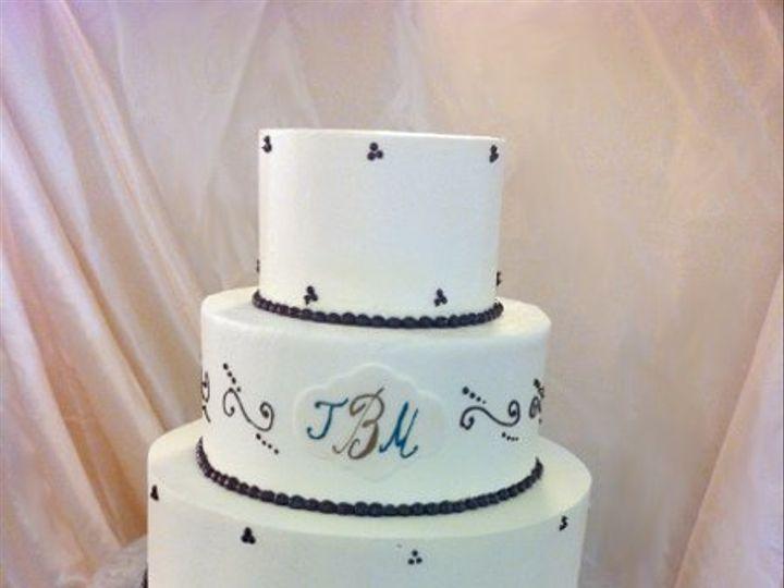 Tmx 1287700247170 Monogramwedding Bronx wedding cake