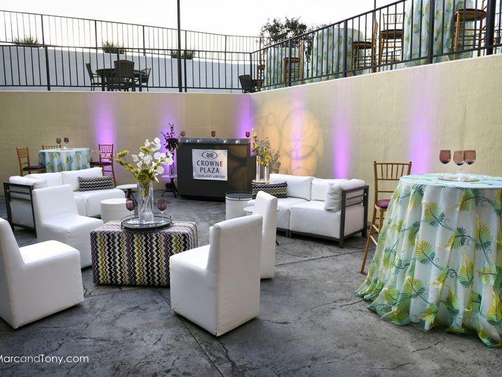 Tmx Outdoor Reception Cleveland Ohio Crowne Plaza Cleveland Airport 51 741110 Cleveland, OH wedding venue