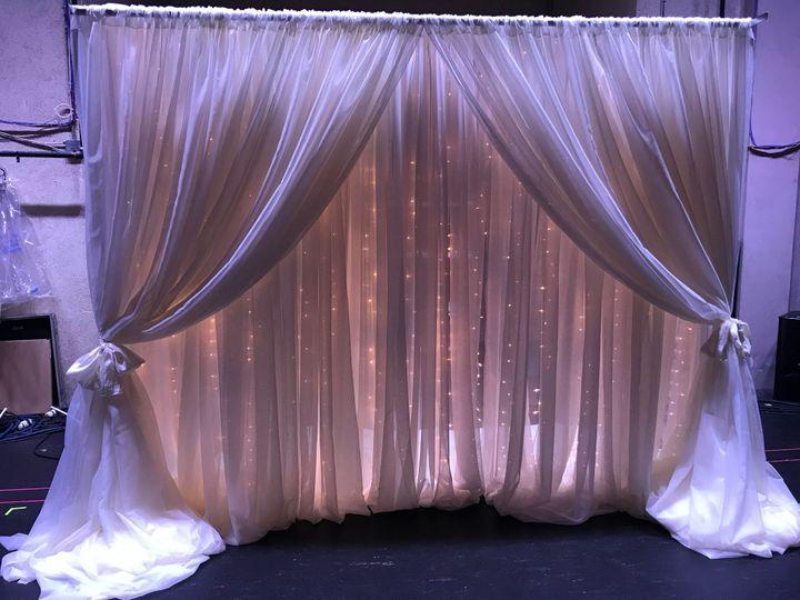 Lighted backdrop, lavendar