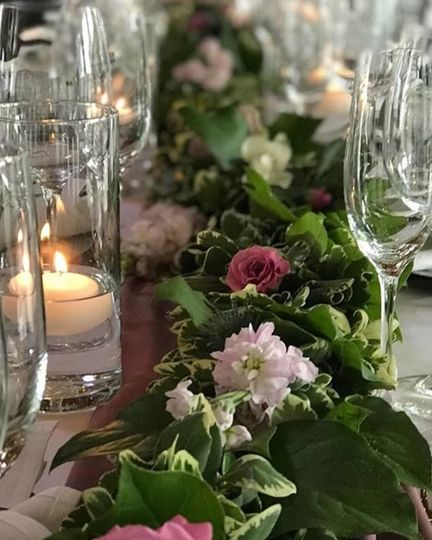Delicate floral centerpiece