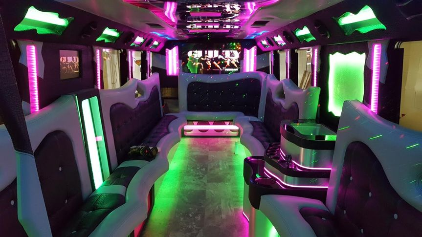 Interior Photo of Our Hermes Party Bus!