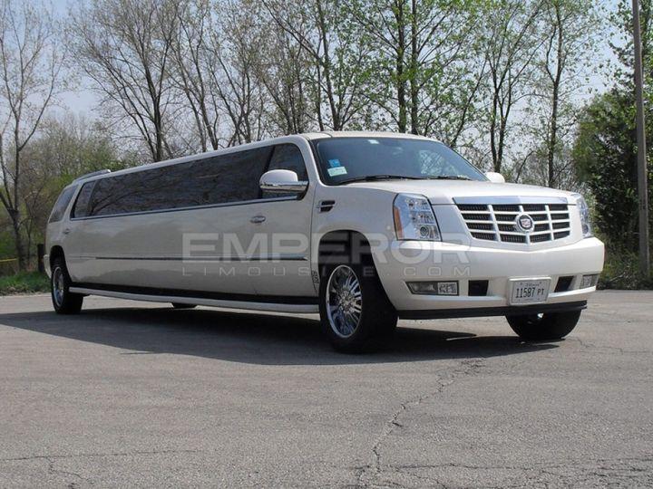 Exterior of Our Cadillac Escalade SUV Limousine!