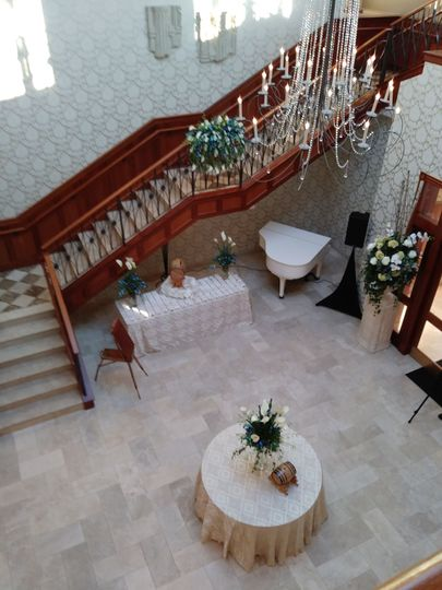 View of our Grand foyer from just outside of our bridal suite. This is where your guests will enjoy...