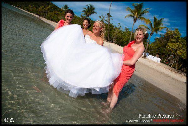 Brideinwaterwithmaids