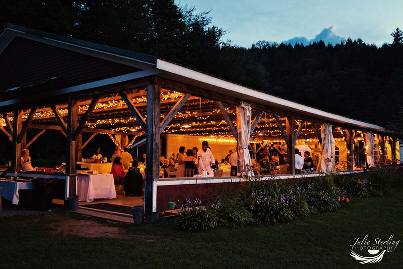 Evening lights at the reception