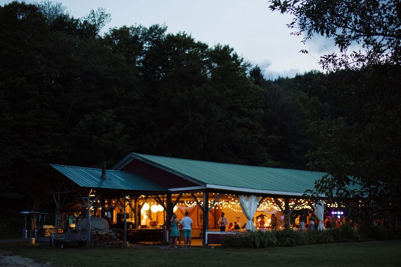 Pavilion at dusk