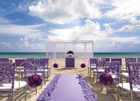lavender luxe ceremony