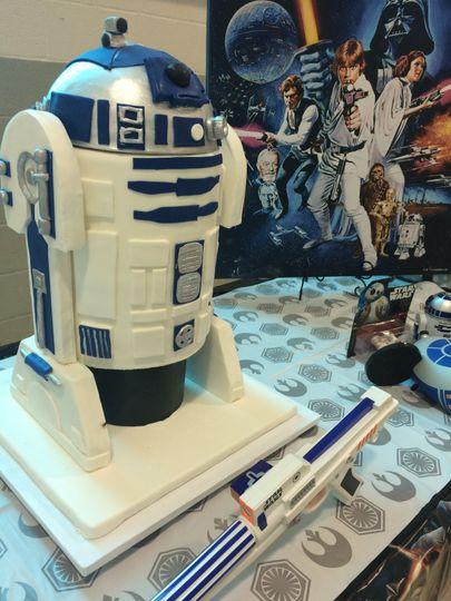 Starwars themed cake