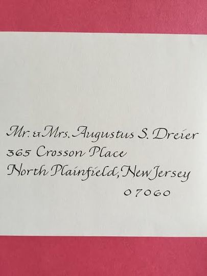 Wedding details card