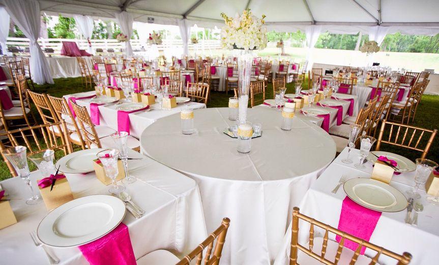 Wedding under a tent