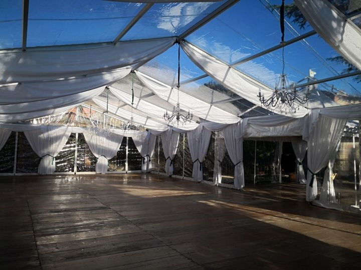 Wedding clear span tents