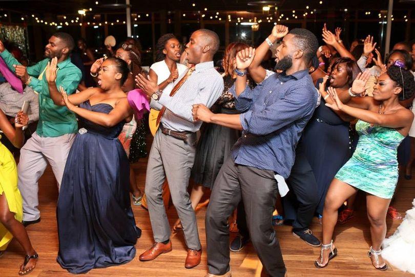 Guest on the dance floor