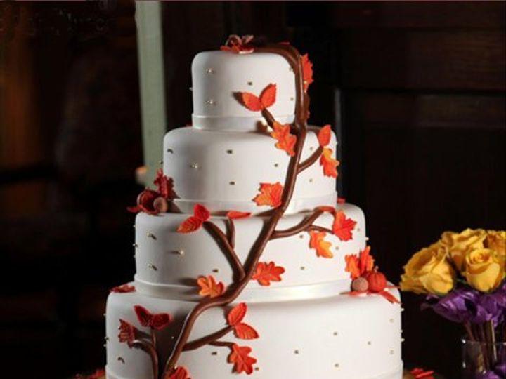 Tmx 1309442929320 AutumnLeaves Elkridge wedding cake