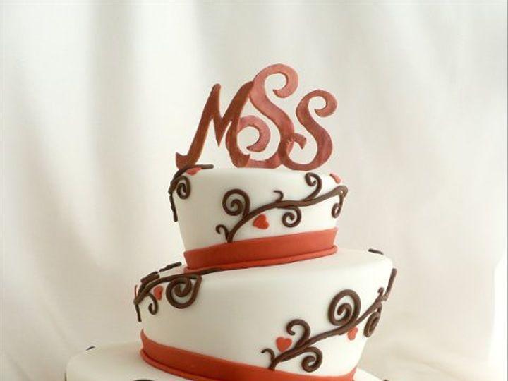 Tmx 1309442933445 AutumnTopsyTurvy Elkridge wedding cake