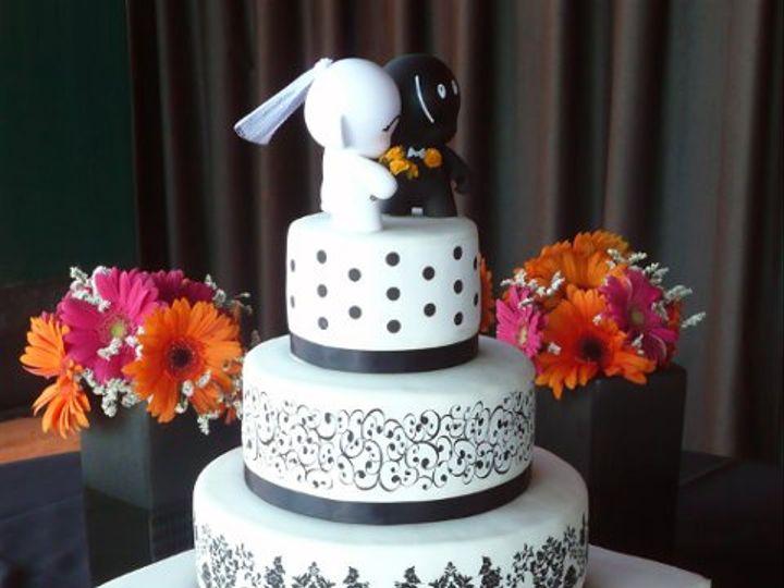 Tmx 1309442951289 BlackWhiteLucks Elkridge wedding cake