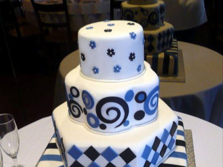 Tmx 1309442954742 BlackAndBlue Elkridge wedding cake