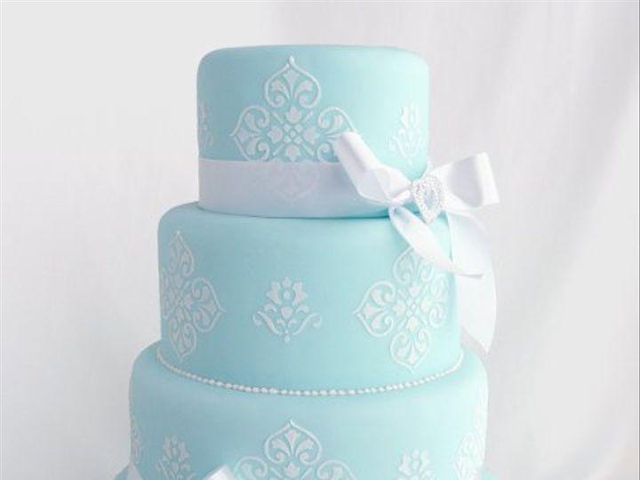 Tmx 1309442977773 BlueStencil Elkridge wedding cake