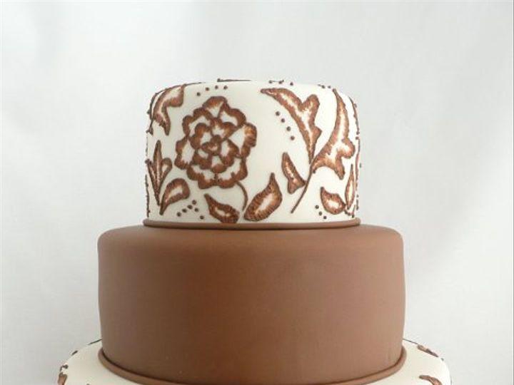 Tmx 1309442984710 BrownBrush Elkridge wedding cake