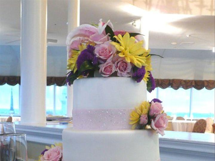 Tmx 1309442997632 FlowersAndRibbon Elkridge wedding cake