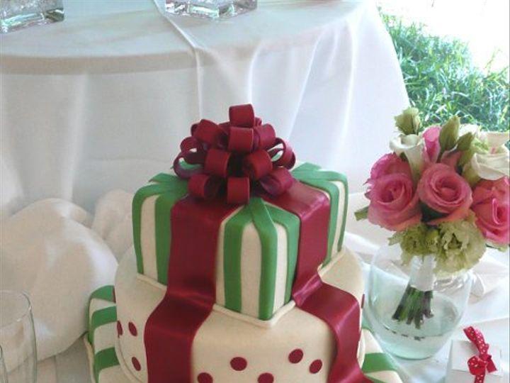 Tmx 1309443018039 MaroonRibbonAndBow Elkridge wedding cake