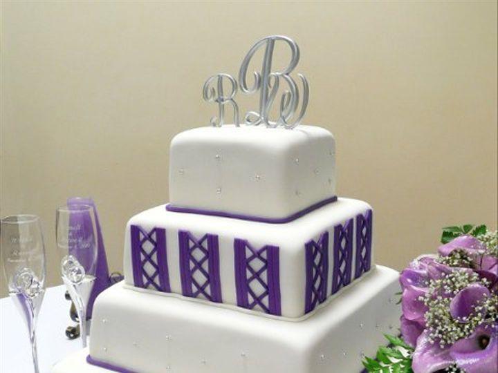 Tmx 1309443026914 PurpleDiamonds Elkridge wedding cake
