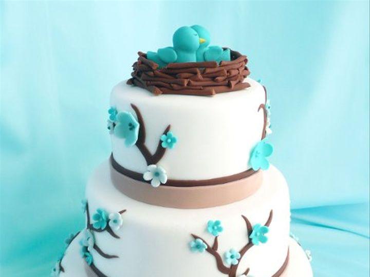 Tmx 1309443061742 TealBirds Elkridge wedding cake