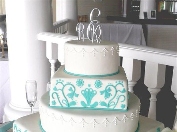 Tmx 1309443065851 TealJacobean Elkridge wedding cake