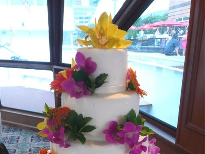 Tmx 1309443076476 TropicalFlowers Elkridge wedding cake