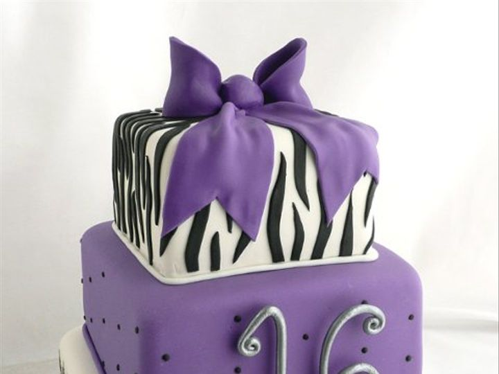 Tmx 1309453827585 PurpleZebra Elkridge wedding cake