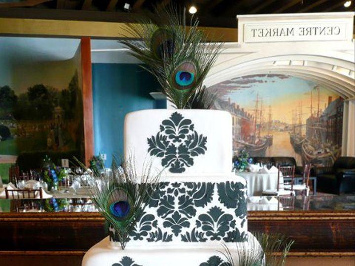 Tmx 1318250657469 BlackDamaskM Elkridge wedding cake