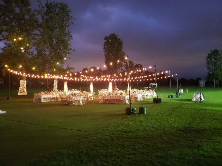 Bistro lights on first fairway