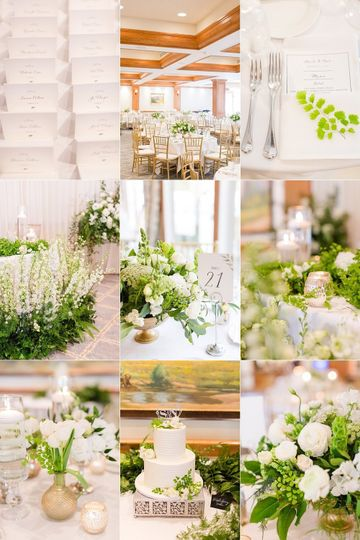 Greens & white decor
