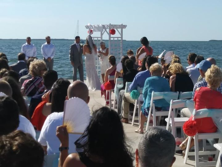 Wedding ceremony beachside