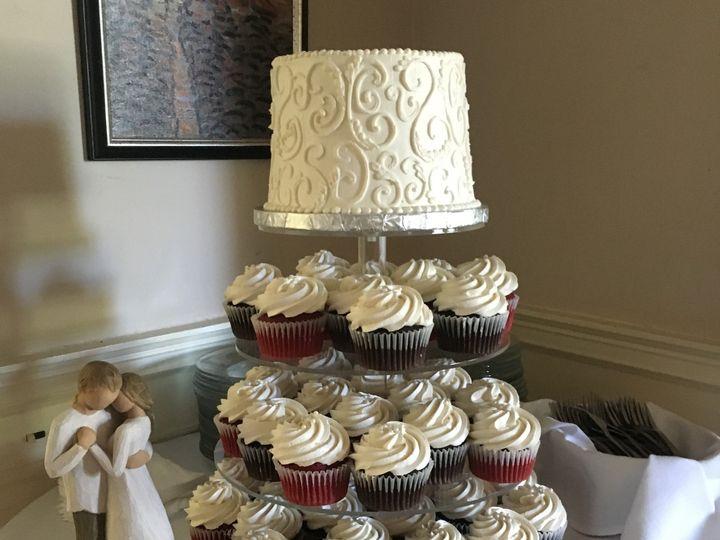 Tmx 1484670371189 Scrollcupcake Madbury, NH wedding cake
