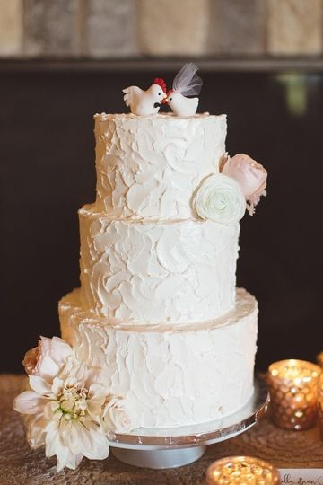 White cake with embellishments