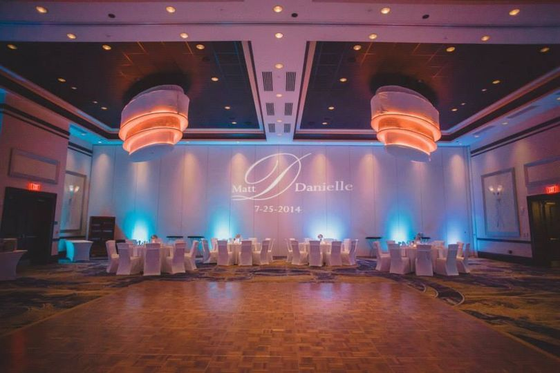 UPLIGHTING AND MONOGRAM