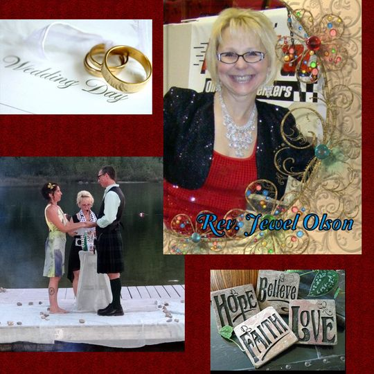 https://www.facebook.com/Weddings4U website- http://www.JewelOlson.webs.com