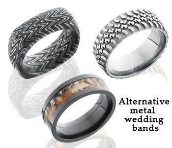 Alternative metal wedding bands