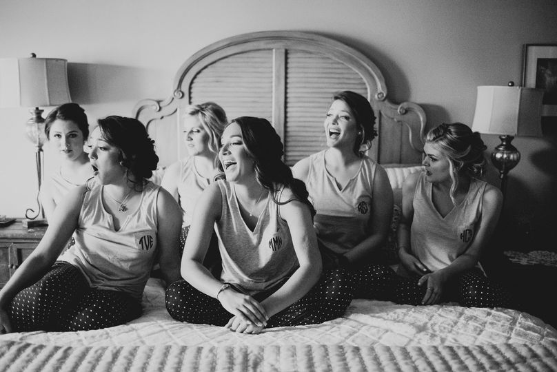 Bride Tribe in the Bridal Suite.