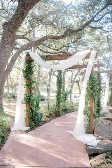 Entrance to the Ceremony Site, the Cathedral Under the Trees, at La Estancia Bella.