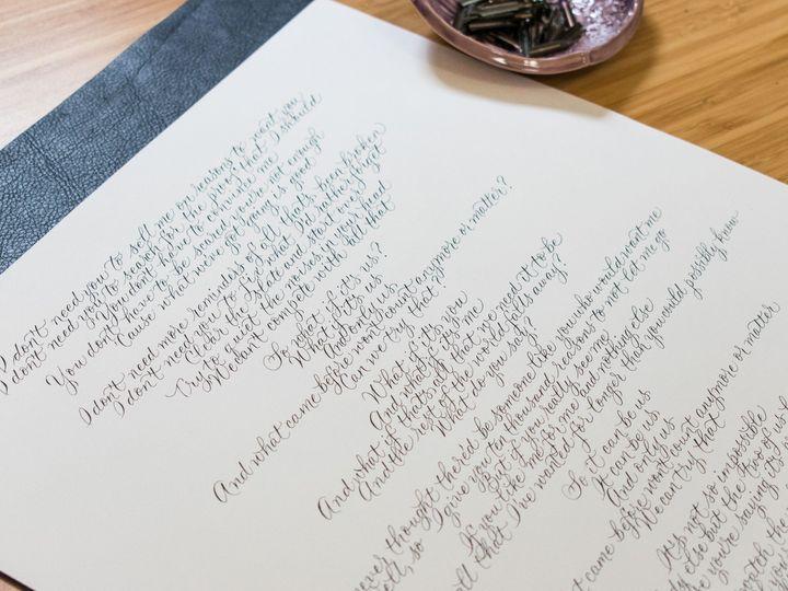 Tmx Alicia Song Lyrics In Modern Calligraphy 3 51 947210 1569357687 Rochester, NY wedding invitation