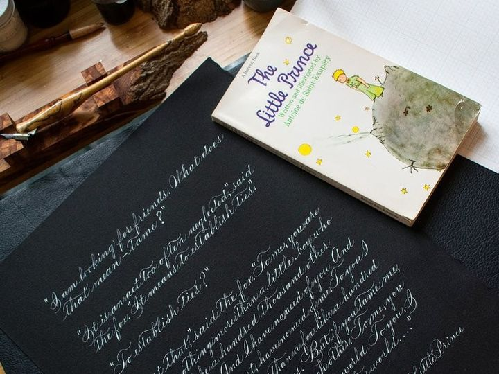 Tmx Thelittleprinceexcerptincalligraphy 51 947210 1570564917 Rochester, NY wedding invitation