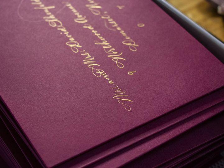 Tmx Wine Envelopes And Gold Ink 1 Min 51 947210 158999738899257 Rochester, NY wedding invitation