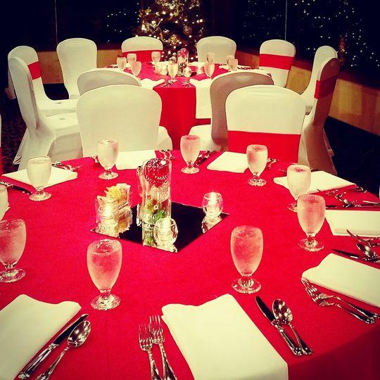 Holiday dinner reception