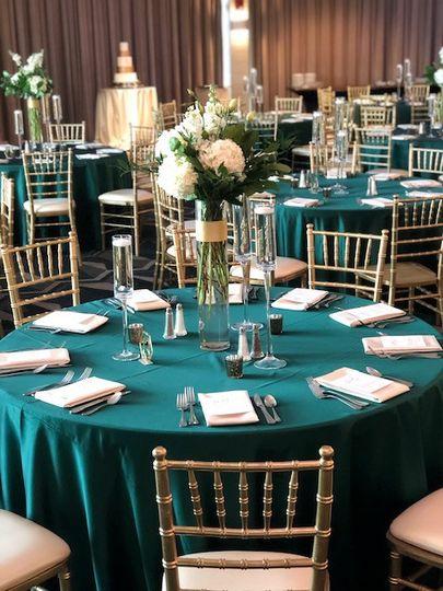 Hunter Green and Ivory Wedding