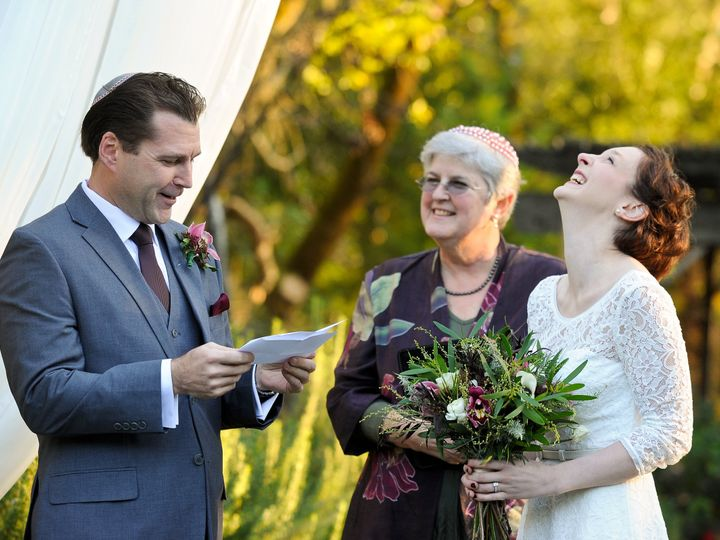 Tmx 1428357424792 Sarahsteve Headback Laugh Petaluma, California wedding officiant