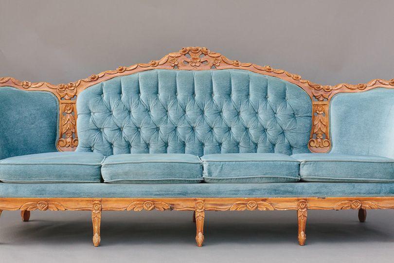 Blue vintage  sofa