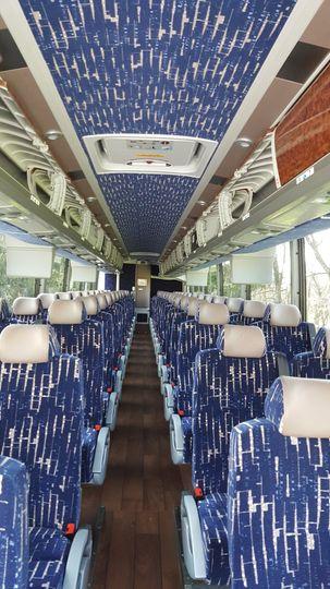 56 passenger interior