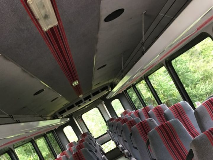 Tmx 30 Pax Mini Bus Inside 51 91310 West Chester, Pennsylvania wedding transportation