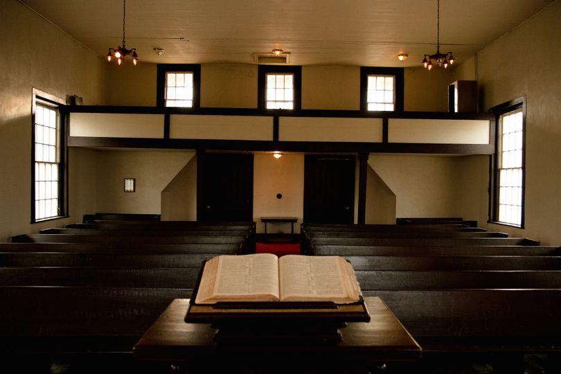interior sepia union church
